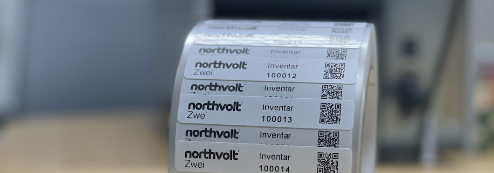 northvolt etiketten inventarisierungssoftware