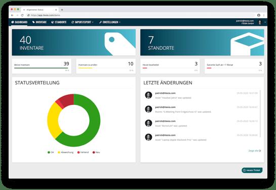 Dashboard-ITEXIA-Inventarsoftware-App