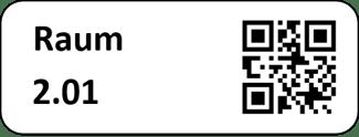Beispiel eines Raumetiketts