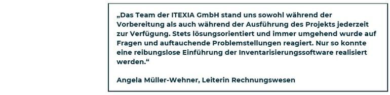 Zitat SAH zur Einführung der ITEXIA-Software-2