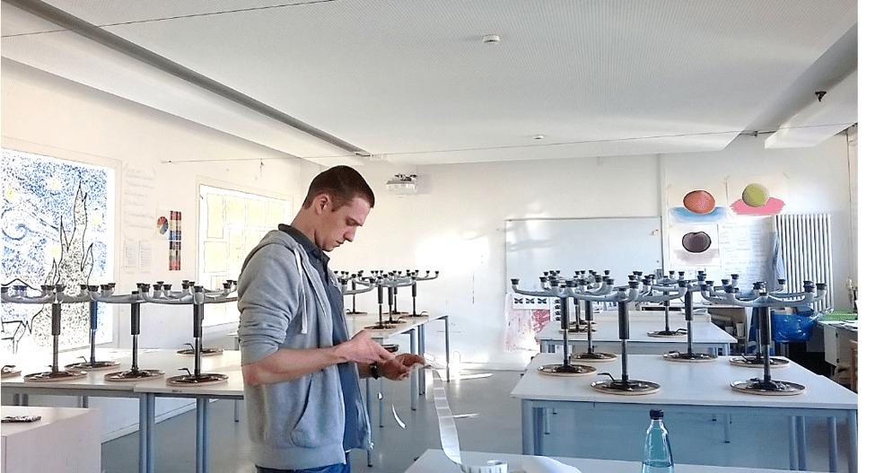Inventarisierung eines Klassenraums der Berlin Metropolitan School
