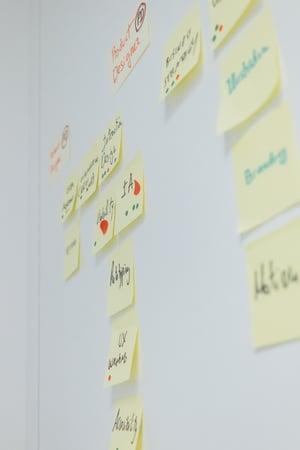 Post-its zur Projektplanung der IHK Trier