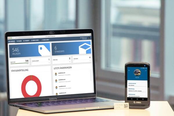 ITEXIA Software mit Etiketten-Scanner und Inventaretikett